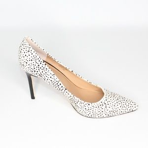 Halston Heritage Courtney Spotted Calf Hair Heels